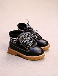 Boy's Boots Comfort Leather Casual Black / Brown