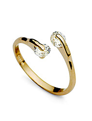 Lureme®Fashion Semi-open Style Double Cubic Zircon Engagement Ring 18k Gold Jewelry Perfect Gift For Women
