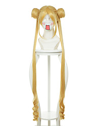 Sailor Moon Usagi Tsukino Golden-Yellow Special Styling Halloween Wigs Synthetic Wigs Costume Wigs