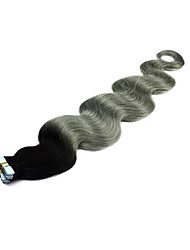 2.5g/pc Brazilian Ombre Grey Tape Hair Extension 1b/grey PU Skin Weft Human Hair Extension