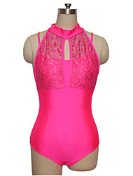 Nylon/Lycra Lace Turtle-Neck Ballet Leotard Dancewear More Colors for Girls and Ladies