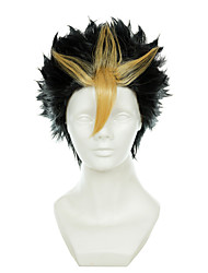 voleibol nishinoya juvenil yuu marrom misturado uma pitada de amarelo virou-alice curta o dia das bruxas traje perucas perucas sintéticas