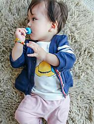 малыш Набор одежды-На каждый день,Полоски,Хлопок,Весна / Осень-Синий / Розовый / Желтый