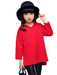 Girl's Casual/Daily Solid Sweater & CardiganWool / Cotton Fall Pink / Red