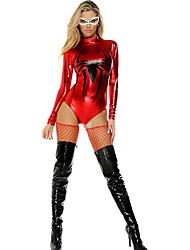 Costumes de Cosplay Araignée Cosplay de Film Rouge / Noir Couleur Pleine Collant/Combinaison Halloween / Carnaval Féminin Polyester