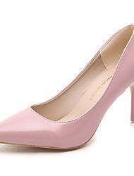 Damen-High Heels-Büro / Kleid / Party & Festivität-PU-Stöckelabsatz-Komfort-Schwarz / Rosa / Rot / Weiß