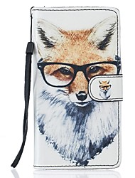 For Samsung Galaxy S7 Edge Case Fox PU Leather Wallet S5 S6 S7