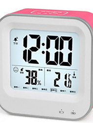 Touch Section Snooze Temperature And Humidity Weather Clock