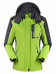 Mulheres Jaquetas Softshell Acampar e Caminhar Impermeável Respirável Térmico/Quente A Prova de Vento Vestível Primavera Outono Inverno