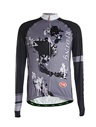 Sports Cycling Jersey Men's Long Sleeve Breathable / Thermal / Quick Dry /Back Pocket / Ultra Light Fabric Bike