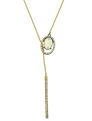Fashion Gold Color Rhinestone Long Chain Necklace