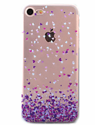 Para Funda iPhone 7 / Funda iPhone 6 / Funda iPhone 5 Ultrafina / Diseños Funda Cubierta Trasera Funda Corazón Suave TPU AppleiPhone 7