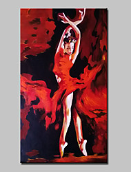 Hand Painted Modern Abstract Dancing Girl Oil Painting On Canvas Wall Art Pictures For Living Room Home Decoration Ready To Hang