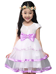 Girl's Casual/Daily Solid Dress,Cotton / Polyester / Nylon Summer Short Sleeve