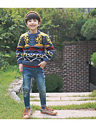 Boy's Casual/Daily Print Sweater & CardiganAcrylic Winter / Fall Blue