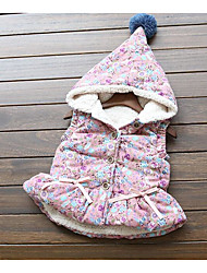 Girl's Casual/Daily Floral VestCotton Winter Pink / Gray