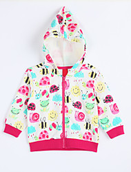Girl's Casual/Daily Print BlouseCotton Fall Red