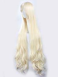 Kagerou проект сакуры жасмин светло-золотисто-желтые длинные вьющиеся волосы, Хэллоуин парики синтетические парики Карнавальные парики