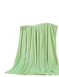 Flanelle Vert,Solide Solide 100 % Polyester couvertures 200x230cm