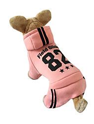 Dog Hoodie / Clothes/Jumpsuit Blue / Pink / Gray Dog Clothes Fall Letter & Number Sports / Casual/Daily