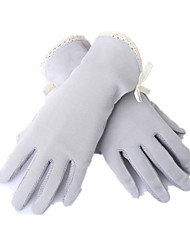 Touch Screen Short Thin UV Gloves (Gray)