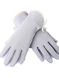 luvas do toque uv finas e curtas de tela (cinza)