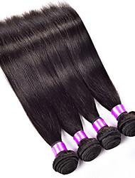3 Pcs Lot 10-30 Brazilian Silk Straight Virgin Hair Wefts Natural Black 1B# Remy Human Hair Weave Bundles Tangle Free