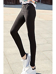 16 years of good quality stock Water ~ Korean version of the thin models wild two buckle feet leggings female models real shot 902