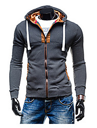 Brand Hight Quality Men's Casual/Daily Active Regular Hooded Long Sleeve Cotton Fall / Winter Medium Micro-elastic Hot