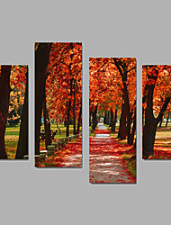 Unframed Canvas Print Landscape Modern,Four Panels Canvas Any Shape Print Wall Decor For Home Decoration