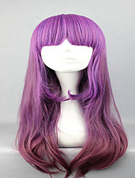 60cm Long Wavy Color Mixed  Cute Lolita Style  Purple   Cosplay Wig Hair