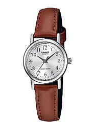 Masculino Relógio de Moda Quartzo Impermeável Couro Banda Casual Marrom Branco/Marrom