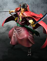 Las figuras de acción del anime Inspirado por One Piece Roronoa Zoro PVC 23 CM Juegos de construcción muñeca de juguete