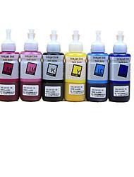 note 6 couleurs fourni 100ml jaune rouge 100ml 100ml bleu bleu clair 100ml 100ml rouge clair 100ml encre d'imprimante noir
