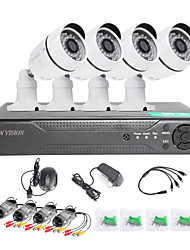 TWVISION 8CH HDMI 960H CCTV DVR Video Surveillance Recorder 4PCS 1000TVL  Outdoor Cameras CCTV System