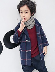 Boy's Casual/Daily Plaid Down & Cotton PaddedCotton Winter / Spring / Fall Black / Blue / Yellow