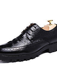 Men's Oxfords Clogs & Mules Spring Fall PU Wedding Outdoor Office & Career Casual Party & Evening Flat Heel  Red/Black