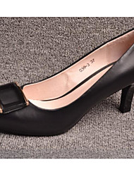 Women's Heels Spring Summer Slingback Leather Casual Stiletto Heel Others Black Walking
