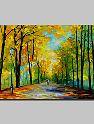 Hand-Painted Modern Abstract Knife Tree Landscape Oil Painting On Canvas Wall Art For Home Decoration Ready To Hang