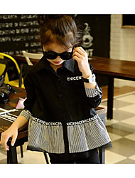 Girls' Casual/Daily Striped Shirt,Cotton Spring Fall Long Sleeve
