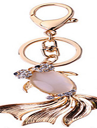 Crystal Cat 'S Eye Goldfish Key Chain