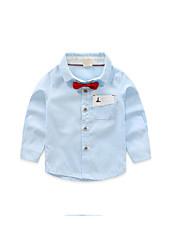 Tee-shirts Boy Couleur Pleine Décontracté / Quotidien Coton Printemps / Automne Bleu / Vert / Blanc