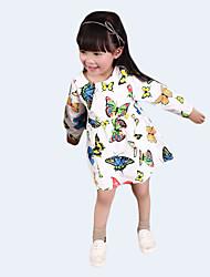 Girl's Casual/Daily Animal Print Dress,Cotton Fall Animal Print
