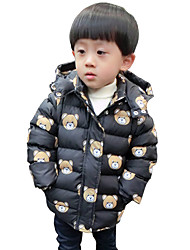 Boy's Cotton Fashion Spring/Fall/Winter Casual/Daily Cartoon Bear Long Sleeve Thicken Padded Jacket Coat