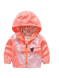 Girl's Casual/Daily Solid Jacket & CoatSpandex Spring / Fall Orange / Red