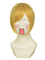 Attack on Titan Annie Leonheart Yellow Short Halloween Wigs Synthetic Wigs Costume Wigs