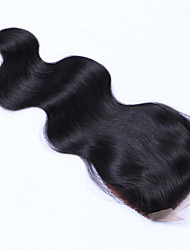 4x4 Inches Remy Human Hair Silk Base Lace Closure Body Wave Virgin Brazilian Human Hair Silk Based Closure