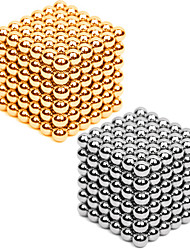 Jouets Aimantés 432 Pièces 3MM Magnetic Balls 216PCS *2,Golden&Silver 2 Color Mixed in 1 Box,Diameter 3 MM Soulage le Stress Kit de