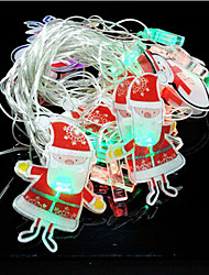 20pcs Santa Claus Ornament Led Lamp Series Of Halloween Day 4 Meters