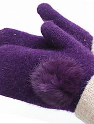 reiner Wolle Handschuhe (lila)
